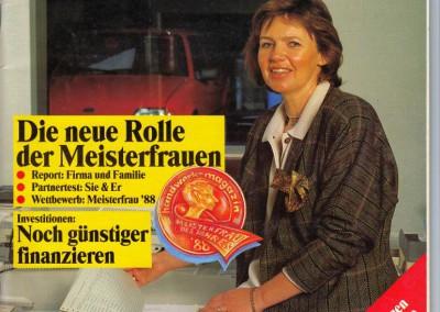 Bärbel Quakernack als Covergirl des Handwerkmagazins 1988