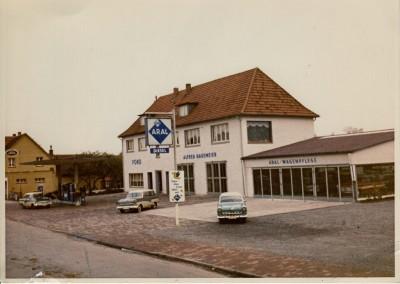 Der Betrieb Anfang der 60er Jahre mit der neuen Schnelldienststation