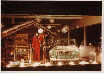 Die weihnachtliche Dekoration 2 gegen Ende der 60er Jahre