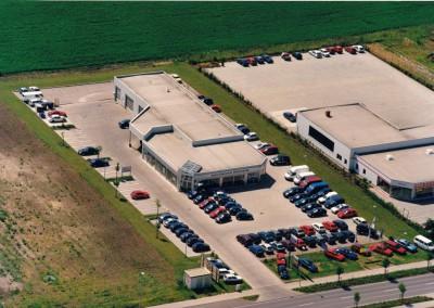 Luftbild Auto-Centrum Sömmerda Mitte der 90er Jahre