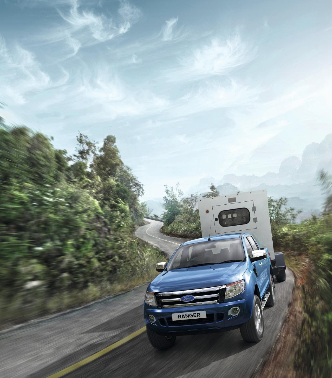 Ford RANGER - darf bis zu 3.350 Kilogramm Anhänger ziehen