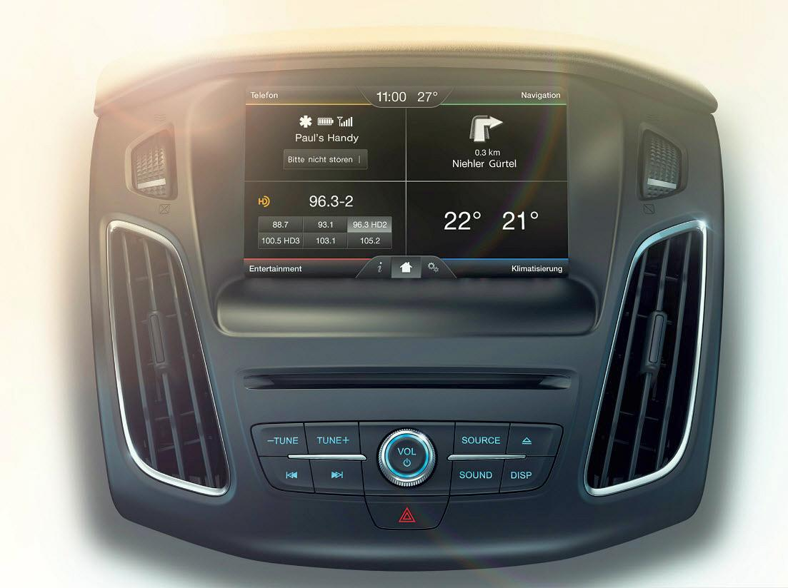 Ford FOCUS - Das sprachgesteuerte Kommunikations- und Entertainmentsystem Ford SYNC 2 mit Touchscreen