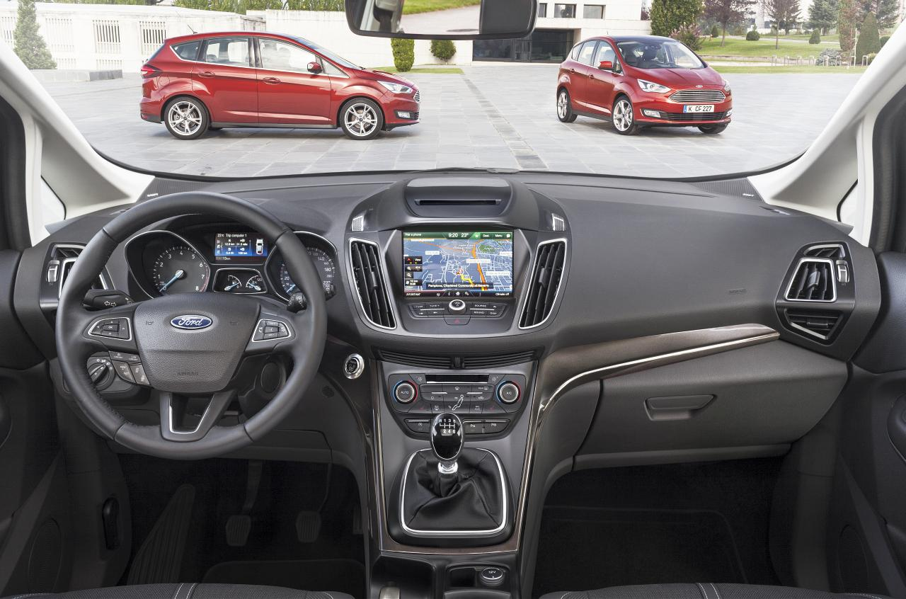 Ford C-MAX und GRAND C-MAX mit neuem, Intuitiven Bedienkonzept des Cockpits
