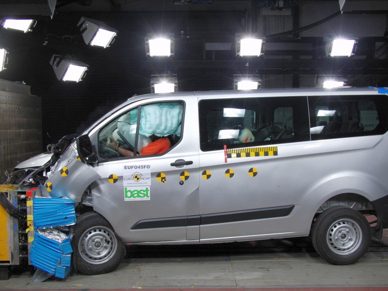 Ford TRANSIT CUSTOM - Das erste Nutzfahrzeug mit 5 Sternen im EURO NCAP Test