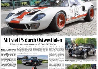 Haller Kreisblatt Lions OWL Rally 11.05.2015