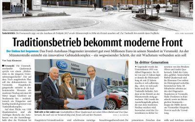 Presse berichtet über den Neubau des Autohaus Hagemeier in Versmold