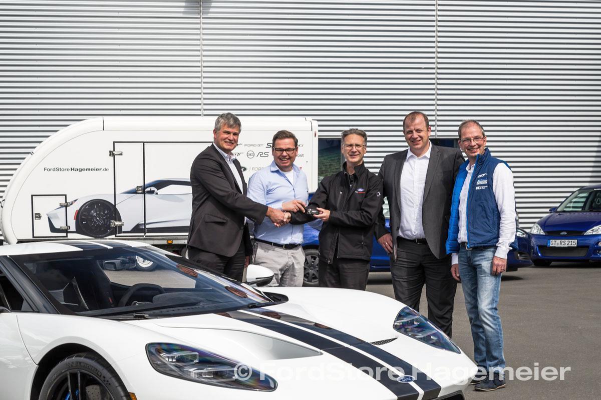 Ford GT 2018 bei der Auslieferung nach Halle